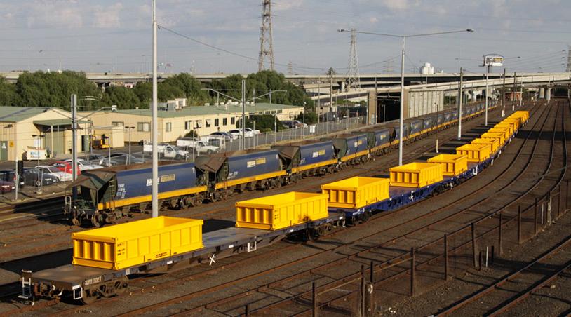 Rail Wagons Iron Ore